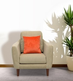 One Seater Sofa in Beige Colour by Vittoria at pepperfry