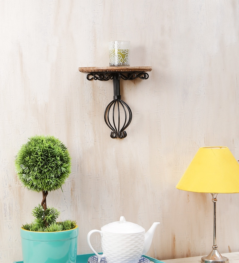 Brown Mango Wood Wall Bracket by Onlineshoppee