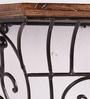 Onlineshoppee Black Mango Wood Wall Bracket