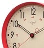 Red ABS 12 Inch Round Wall Clock by Opal