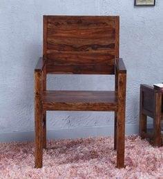 Oriel Solid Wood Arm Chair In Honey Oak Finish