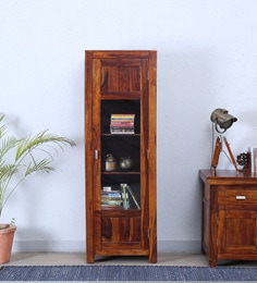 Oriel One Door Book Case In Honey Oak Finish By Woodsworth