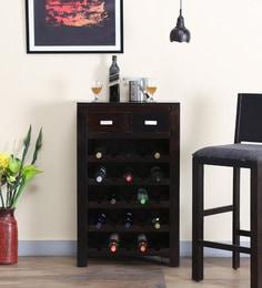 Oriel Wine Rack In Warm Chestnut Finish