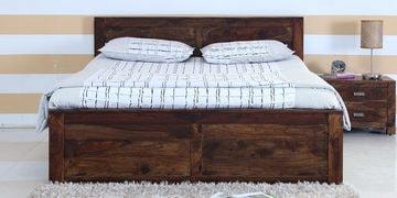 Oriel Queen Bed In Provincial Teak Finish