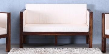 Oriel Two Seater Sofa In Provincial Teak Finish
