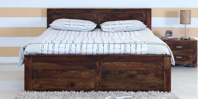 Oriel Queen Bed in Provincial Teak Finish by Woodsworth