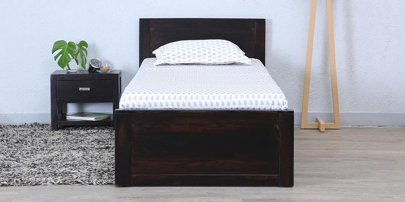 Oriel Solidwood Single Bed in Warm Chestnut Finish by Woodsworth