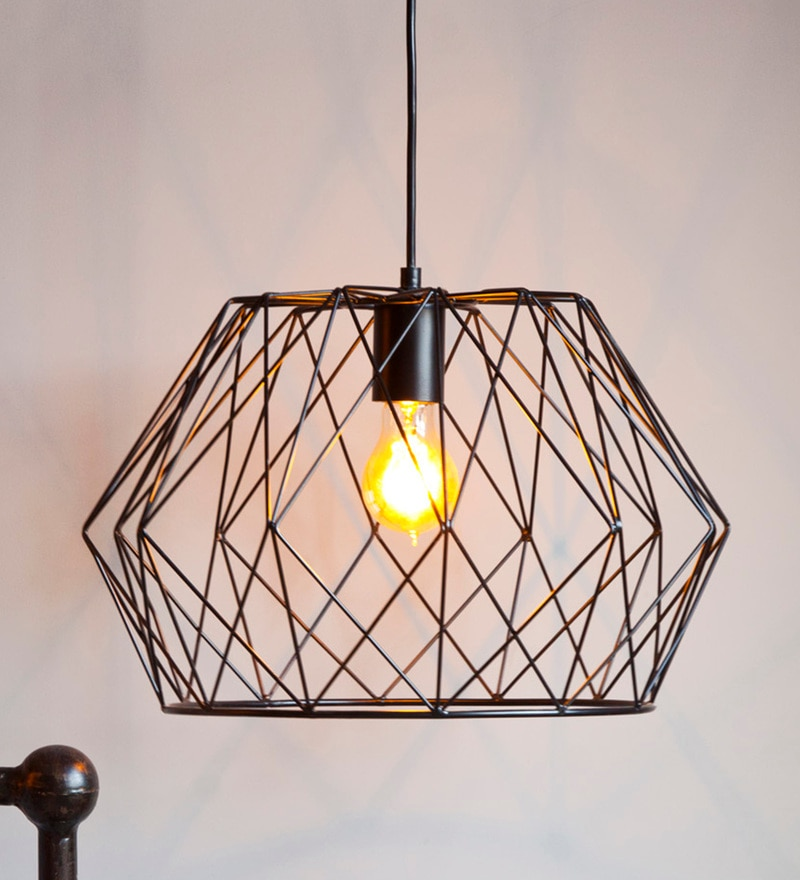 Black Iron Thea Hanging Lamp by Orange Tree