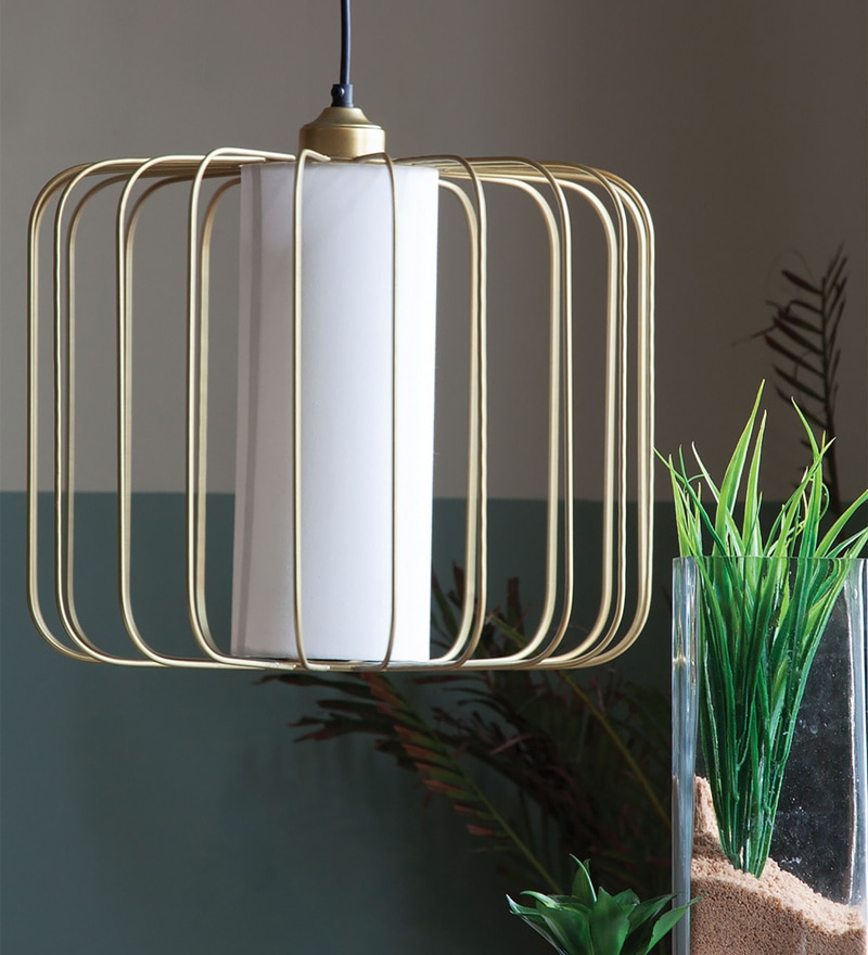 Gold Iron Merriam Hanging Lamp by Orange Tree
