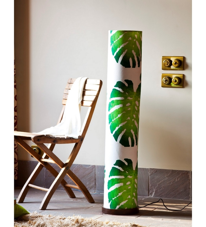 Green & White Cotton Rokko Floor Lamp by Orange Tree