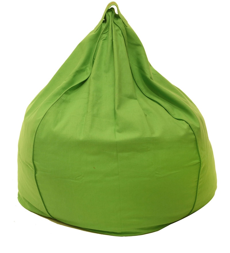 Organic XXL Bean Bag Cover in Green Colour by Reme