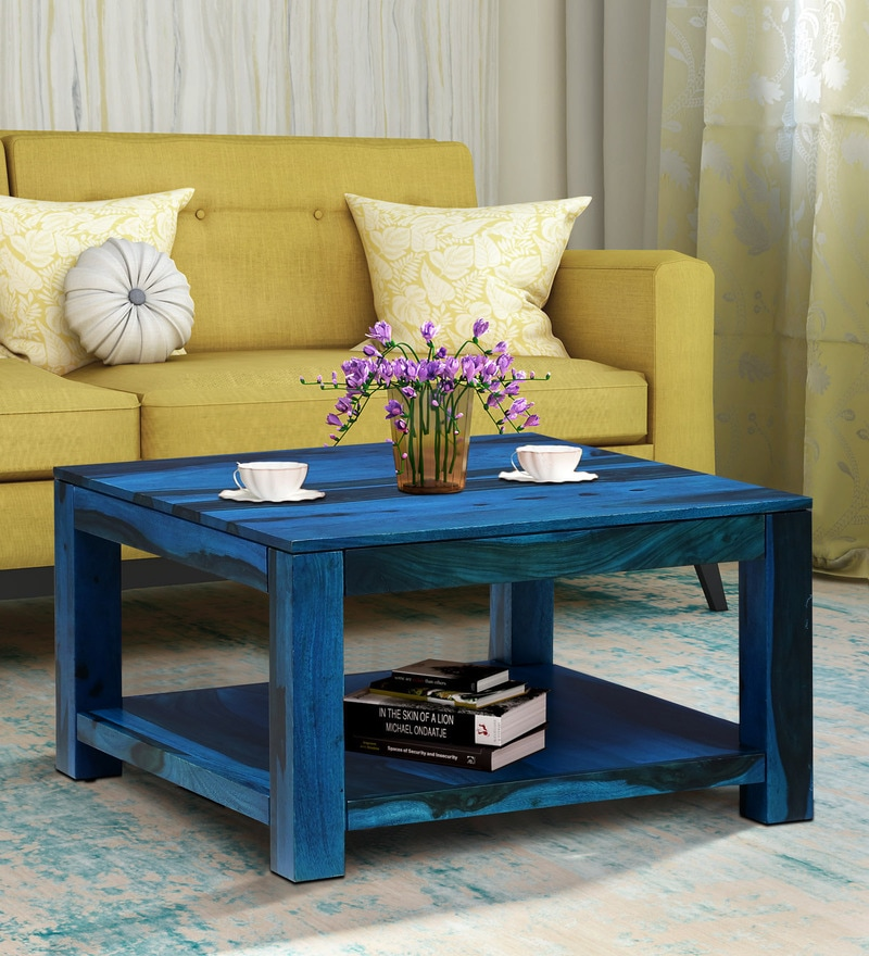 Buy Segur Solid Wood Coffee Table In Rustic Teak Finish By