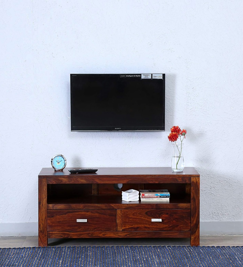 Oriel Two Drawer Entertainment Unit in Honey oak Finish by Woodsworth