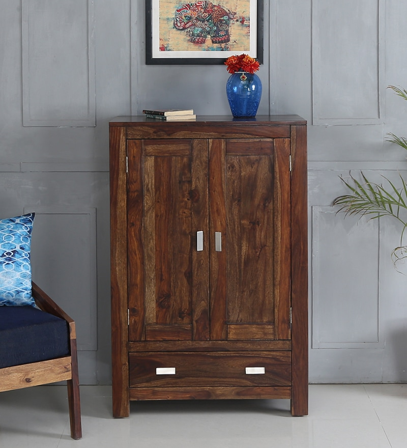 Oriel Small Wardrobe in Provincial Teak Finish by Woodsworth