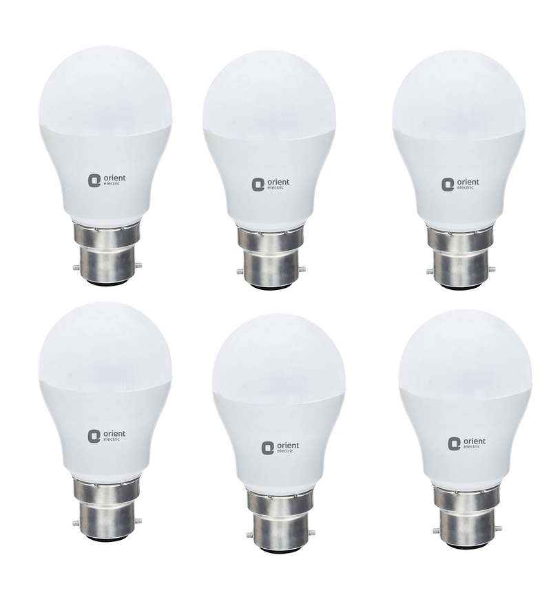 Orient Eternal Shine White 7W LED Bulbs - Set of 6