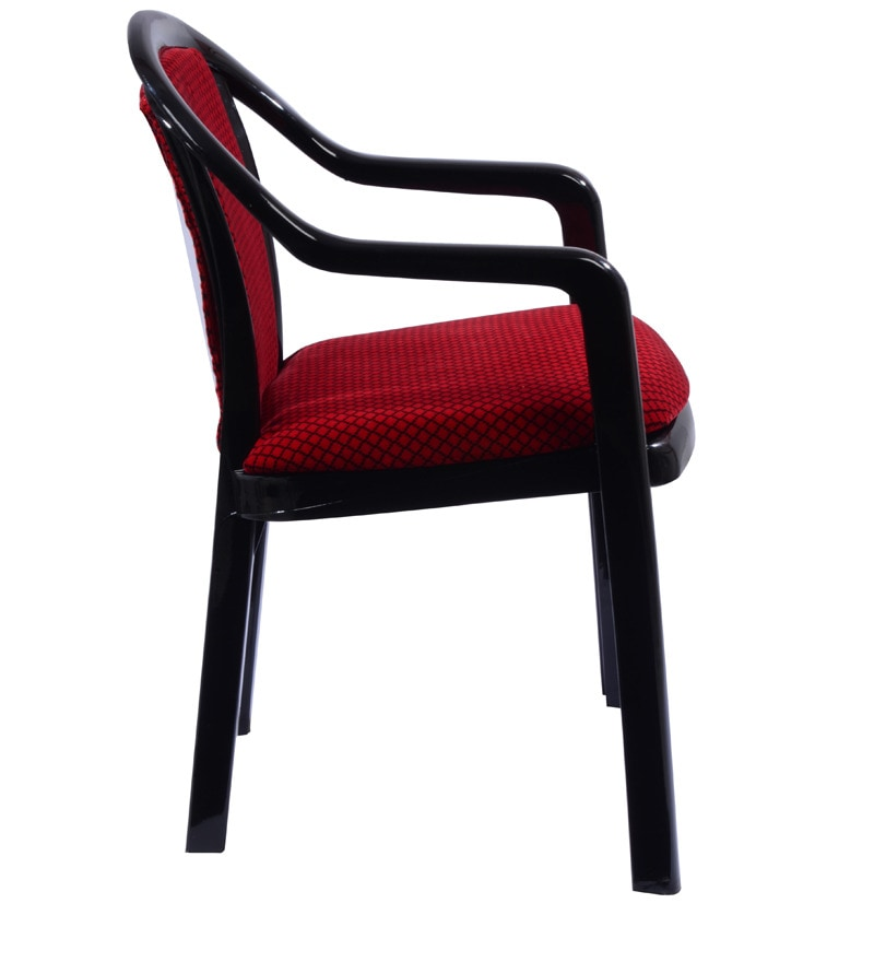 Buy Ornate Chair Set Of 4 In Black Amp Red Colour By