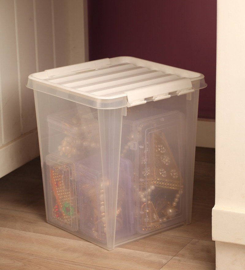 Orthex Polypropylene Transparent 15 L Storage Box with Lid
