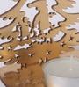 Gold MDF Christmas Festive Santa Tea Light Holder by Orlando's Decor