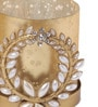 Orlando's Decor Gold Metal & Glass Broach Holder with Tea Light Holder - Set of 2