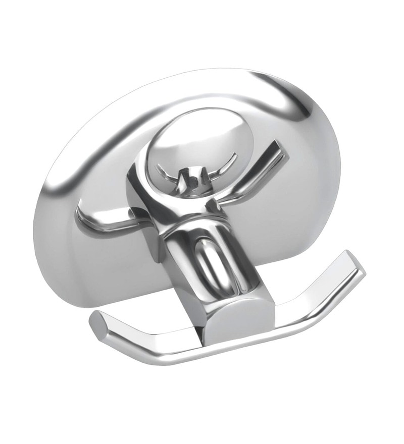 Osian Centro Series Glossy Silver Stainless Steel Robe Hook