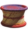 Ottoman Stool Set of 4 in Multi Colour by Shinexus