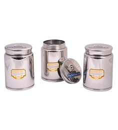 Paanjo King 875 ML Stainless Steel Lock Jars - Set Of 3