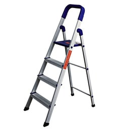 Paffy Home Pro PPCP & Aluminium 4 Steps 3.1 FT Folding Ladder
