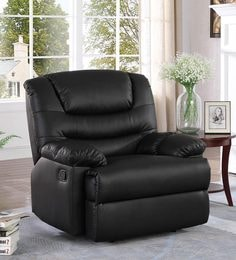Palmarez One Seater Manual Recliner In Black Colour ...