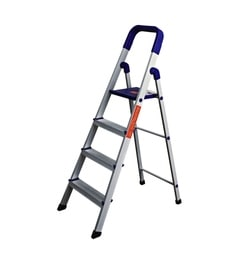 Parasnath Home Pro 4 Step 4.1 Ft Light Weight Aluminium Heavy Duty Folding Ladder