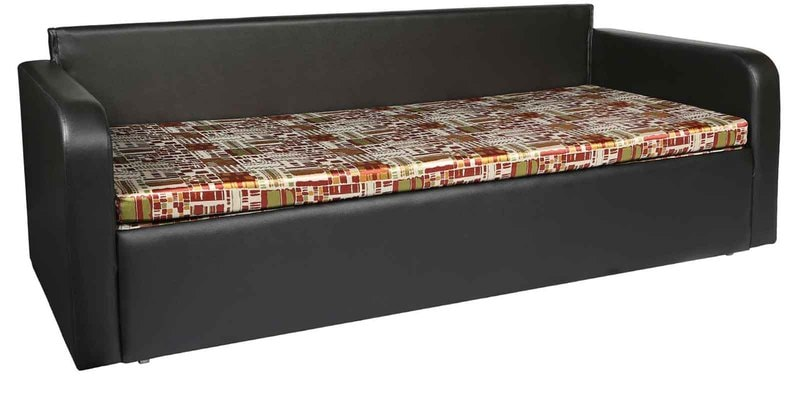 Pater R Sofa cum Bed in Black Design Mattress by Elegant Furniture