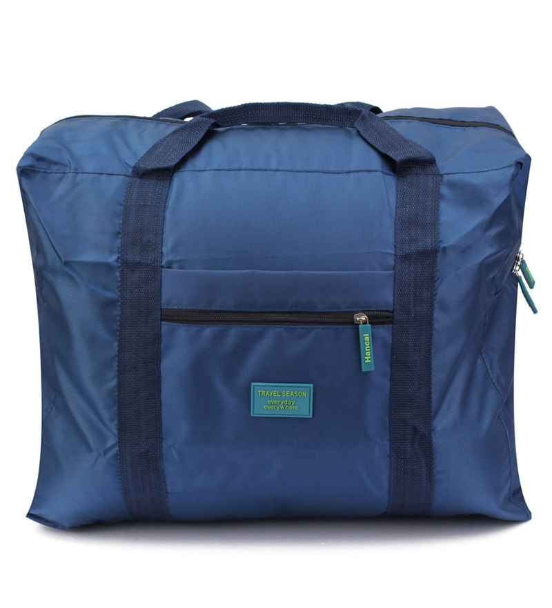 PackNBUY Big Foldable Fabric Blue Carry on Bag