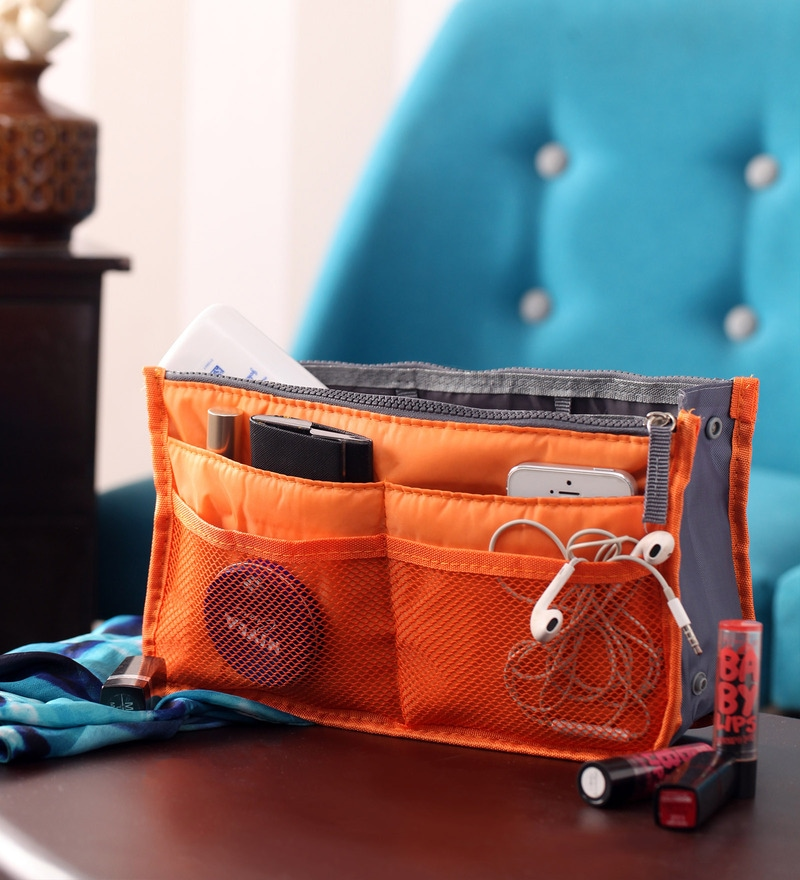 Packnbuy Nylon Orange Purse Switcher Handbag Organiser