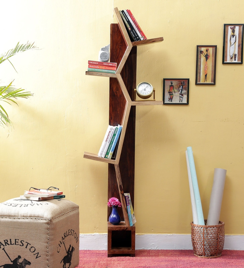 Presley Book Shelf in Dual Tone Finish by Bohemiana