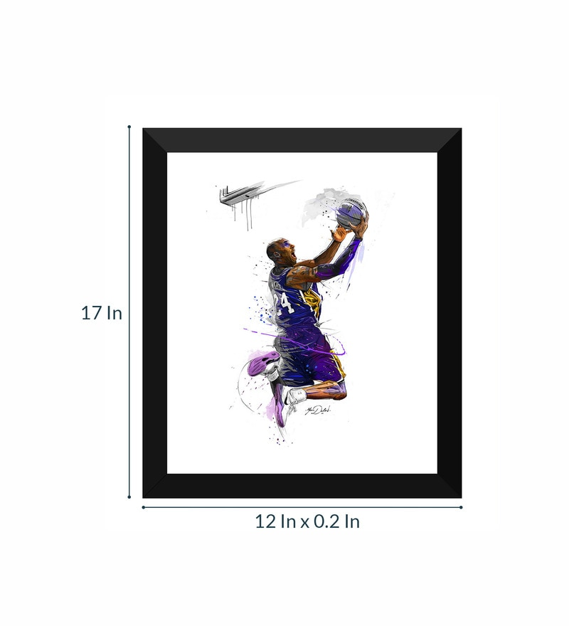 Buy Kobe Bryant Poster Framed Poster (12 X 17 Inches) By Tallenge ...