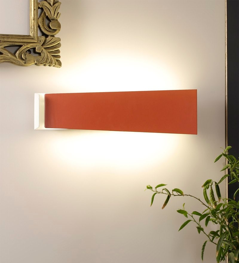 Paramount Orange Metal Wall Light by Jainsons Emporio