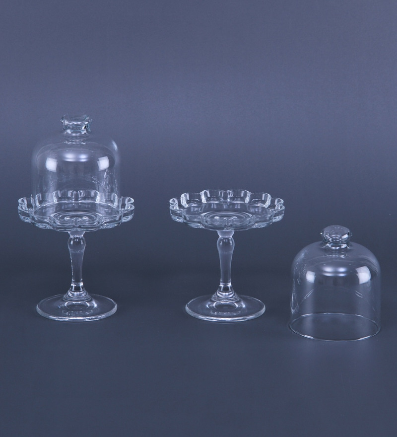 Buy Pasabahce Glass Mini Patisserie Plates Set Of 2