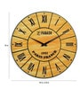 Brown Solid Wood Sand Art Vintage Wall Clock by Panash Art