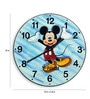 Multicolour Solid Wood 18 x 0.8 x 18 Inch Sand Art Wall Clock by Panash Art