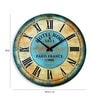 Multicolour Solid Wood Vintage Rustic Wall Clock by Panash Art