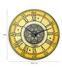 Yellow Solid Wood Vintage Rustic Wall Clock by Panash Art