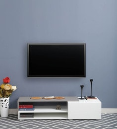 Pepper Entertainment Unit In White & Grey Finish