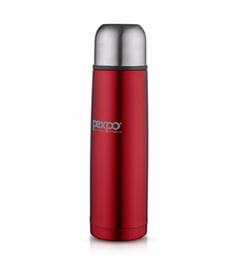 Pexpo Ideale Flamingo Stainless Steel 1000 ML Vacuum Insulated Bottle With Jute Bag