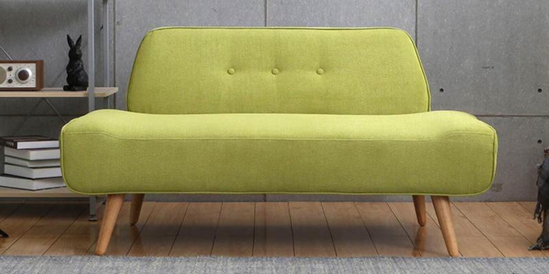 Pedro Two Seater Sofa in Green Colour by CasaCraft
