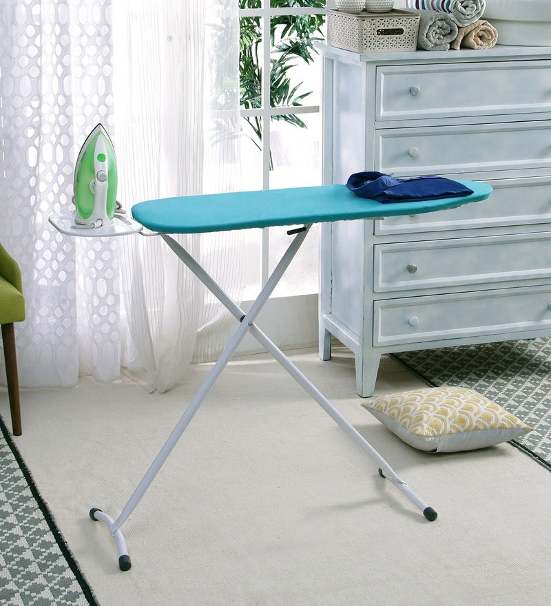 Peng Essentials Steel Aqua Blue Ironing Board
