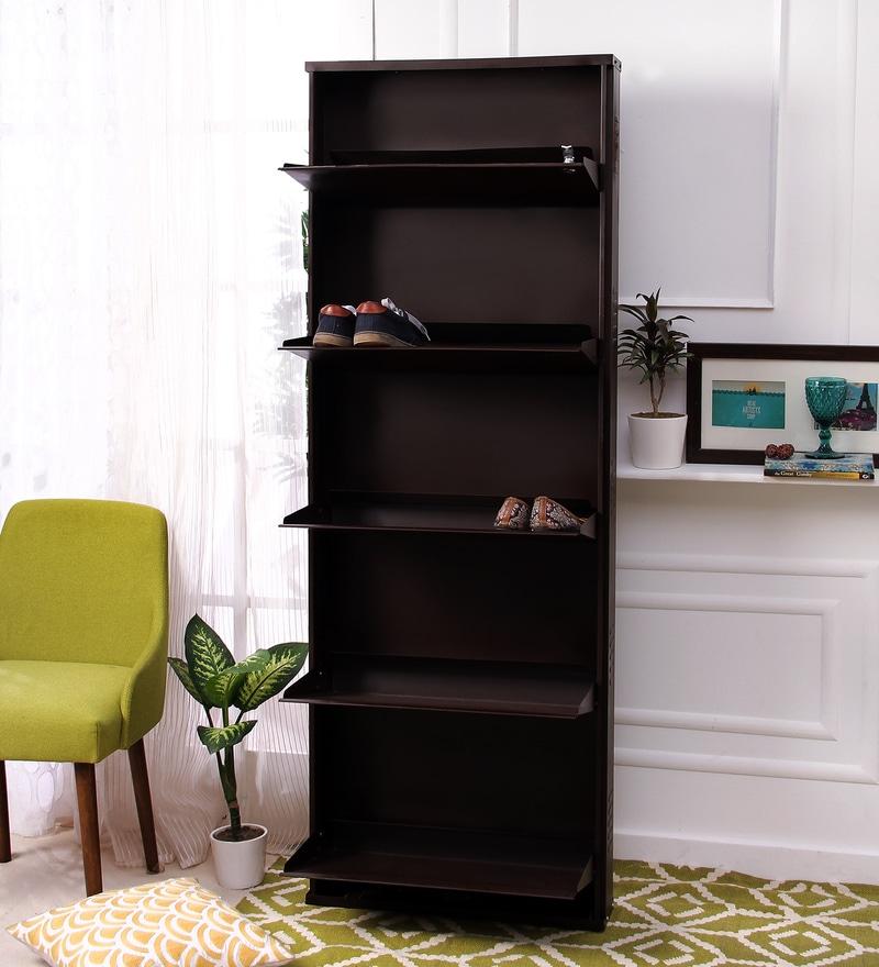 Peng Essentials Steel Brown 5 Shelves Shoe Rack