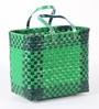 Peacock Life Medium Plastic Green Basket
