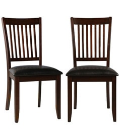 Phacelia Dining Chair (Set Of 2) In Dark Walnut Finish By HomeTown