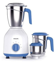 Philips White & Blue Hl7555/00 600 Watt Mixer Grinder With 3 Jars