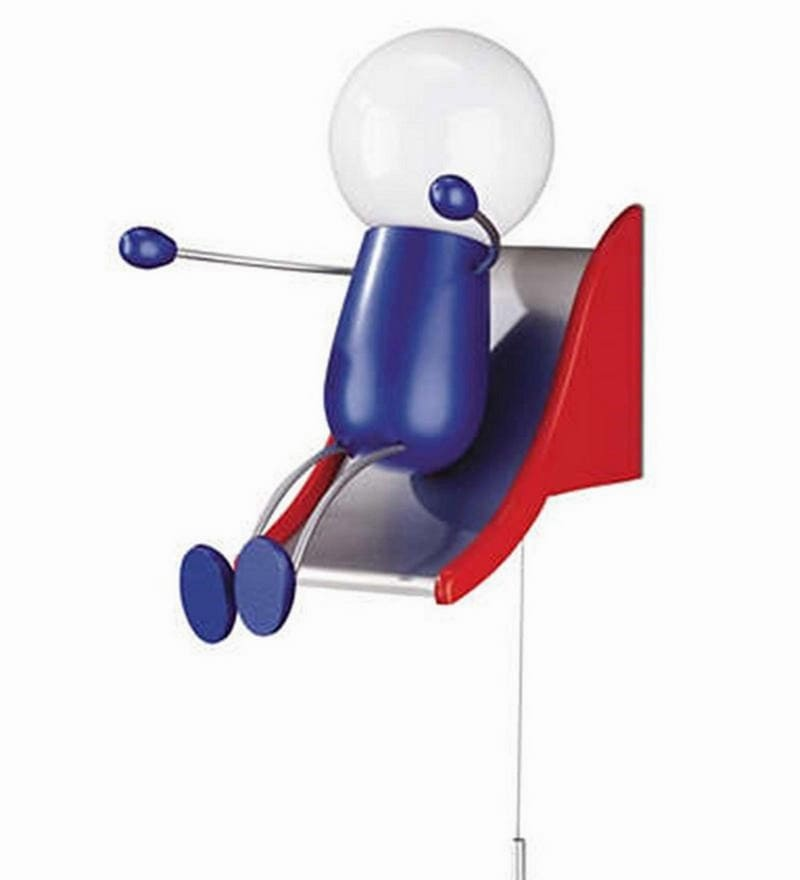 Kidsplace Happy Kid Lamp in Blue & Red Colour by Philips
