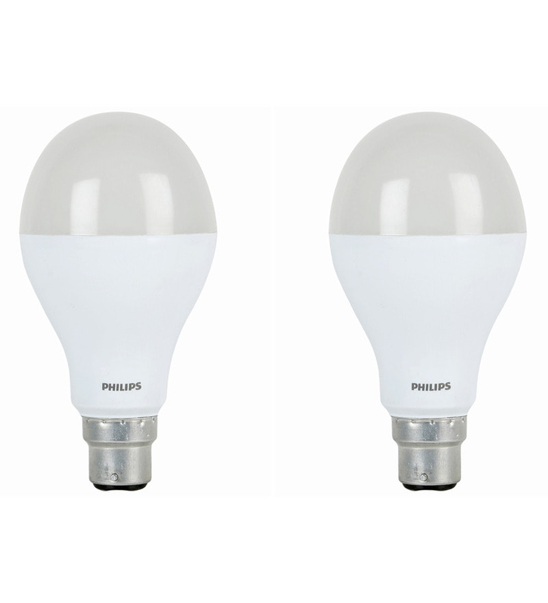 Philips White 14W LED Bulb - Set of 2
